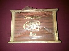 Vintage, wooden, telephone money box 1970s, new and sealed.