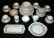 Vintage Paragon, Country Lane Fine China (England) 61-Pieces, Scalloped Rim