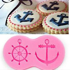 Anchor Rudder Wheel Boat Shape Silicone Mold Fondant Sailor Nautical Forms Mould