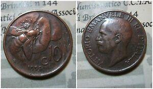 Regno d' Italia Vittorio Emanuele III 10 Centesimi Ape 1935