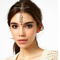 Vintage Women Wedding Bridal Rhinestone Crystal Head Chain Hairband Jewelry Gift