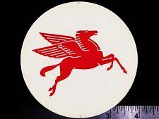 MOBIL Pegasus - Original Vintage 1960's 70's Racing Decal/Sticker - 4 inch round