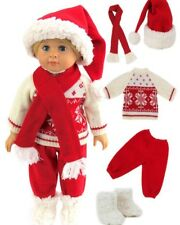 """Christmas Winter Holiday outfit for 18"""" American Girl boy or girl doll clothes"""