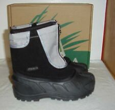 Itasca Boys Snow Stomper Mid-Calf Zipper Snow Boots Youth Size 13 Grey