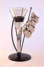 "European Made Contemporary ""CELEBRATION"" CANDLE HOLDER Jet Black Stainless Steel"