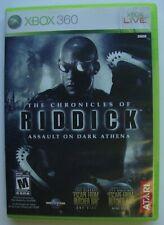 The Chronicles Of Riddick Assault On Dark Athena Xbox 360 Microsoft Video Game