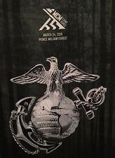 USMC Marine Corps Marathon MCM 26.2 Run with The Marines EGA Race Shirt Medium