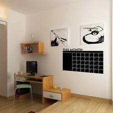 DIY Monthly Planner Chalkboard Blackboard Removable Calendar Wall Sticker SG