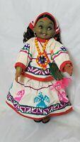 "Vintage Cloth Peruvian Doll 13"" Tall"