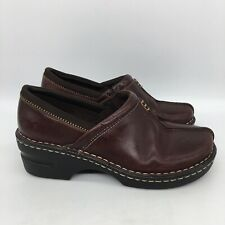 Eastland KELSEY Womens Clog Size 7 Brown Leather Upper