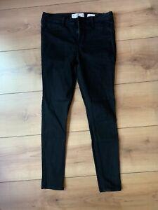 Hollister Jeans schwarz 11R W30 L30 High Rise Super Skinny
