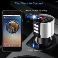 Handsfree Wireless Bluetooth Car Kit FM-Transmitter Radio MP3-Player USB Charger