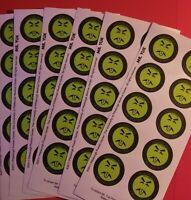 150 MR YUK Poison Control STICKERS Home School Child Safety FREE SHIPPING Yuck