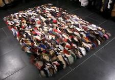 1315 Multicolor Rug Fur Carpet Blue Fox Fur Genuine Fur Rug Real Fox Fur Carpet