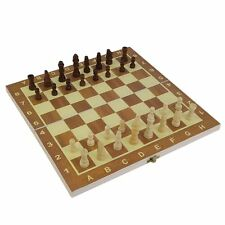 Wood Wooden Chess Magnetic Board Hand Crafted Folding Chessboard Travel Game Set