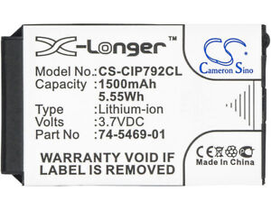 Replacement Battery For Casio 3.7v 1500mAh / 5.55Wh Cordless Phone Battery