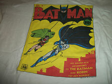 BATMAN COMIC BOOK COVER #1 Bob Kane VINTAGE T-Shirt GRAFFITI 1980s Adult L Large