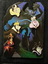 DisneyShopping.com Villains Card 5 Pin Set LE Jafar Ursula Maleficent Cruella