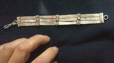 BRACCIALE bagno argento indiano CODA DI TOPO SNAKE INDIAN SILVER 20X1,7 CM