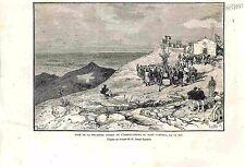 Première Pierre Observatoire Mont Ventoux Croquis Joseph Eysséric GRAVURE 1882