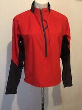 REI Womens L Long Sleeve Thumb Hole 1/2 Zip Jacket