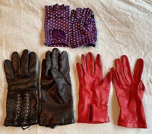 3 Pairs Lovely Real Leather Gloves - Designer Brands