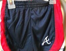 ATLANTA BRAVES UNISEX KIDS 4-TODDLER 4T LOGO A RED, WHITE AND BLUE YOUTH SHORTS