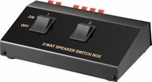 Lautsprecher-Umschaltbox; AVS 12-2 2-FACH LAUTSPRECHER-BOX
