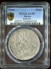 1910 Peso Mexico Caballito PCGS AU50