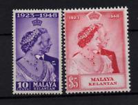 Malaya Kelantan 1948 Silver Jubilee mint LHM SG55-56 WS22356