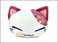 Nemuneko Japanese Pattern Plush FuRyu Sleeping Cat Red Ears Flower Stuffed NWT