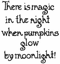 Halloween Magic Moonlight Wood Mounted Rubber Stamp NORTHWOODS C10287 New