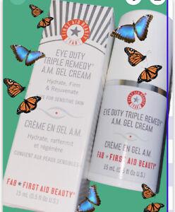 First Aid Beauty Eye Duty Tripe Remedy AM Gel Cream .5 oz Full Size NEW In Box
