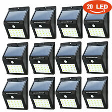 12PACK 20 LED Solar Motion Sensor Light Waterproof Outdoor Garden Security Lamp