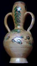 Ancien vase terre cuite vernissée provençale 36cm terracotta