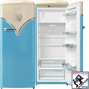 Gorenje Retro Stand Kühlschrank mit Gefrierfach IonAir DynamiCooling 254 L. Blau