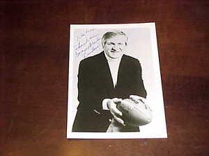 George Blanda Oakland Raiders Autographed Signed Football Photo w/inscription