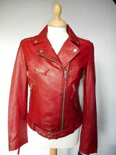 EACH  +OTHER  Women's  Leather Red Jacket  Size -M , New With  Tags rrp-920