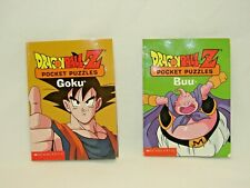 Dragon Ball Z Set Of 2 Pocket Puzzles Books From Scholastic *Very Good*