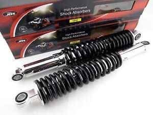 SUZUKI TM400 365mm JBS BLACK/CHROME REAR SHOCK ABSORBERS EYE TO EYE