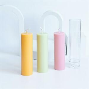 Clear 100mm 35mm Diameter Homyl Handmade Plastic Church Top Round Cylinder Shaped Candle Molds Soap Molds DIY Candle Making Crafts Clay Mould Tools 100mm//125mm//150mm Height