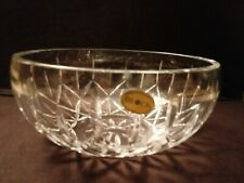 BLOCK Crystal Bowl Made In Poland Mouth Blown Hand Cut 24% Lead Crystal 9.5 inch