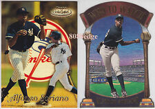 (2) TOPPS GOLD LABEL ROOKIE CARD+WHO TO WATCH DIE-CUT: ALFONSO SORIANO - RC LOT