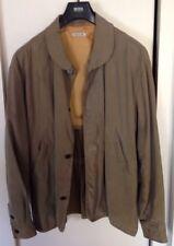 Vintage 90's Giorgio Armani Black Label Linen Causal Jacket Mens Size 48 Italy