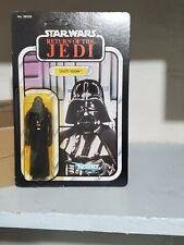77 Back Darth Vader Unpunched MOC Vintage star wars ROTJ Cracked bubble