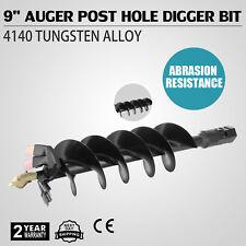 228mm Auger Post Hole Digger Borer Bit Blade Penetrating Deepest Spin Strong