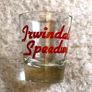 Irwindale Speedway 1 oz. Shot Glass Clear & Red