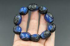 100% natural Baltic blue amber  Bead Sphere ball bracelet AAAAA