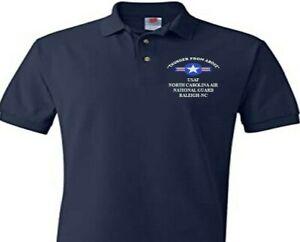 NORTH CAROLINA  AIR NATIONAL GUARD  USAF EMBROIDERED POLO SHIRT/SWEAT/JACKET.