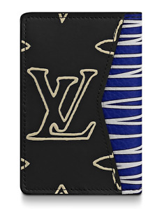 Louis Vuitton Pocket Organizer Patchwork Virgil Monogram Logo Pochette Wallet